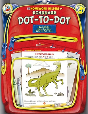 Homework Helper Dinosaur Dot-to-dot, Grades Prek to 1 By Frank Schaffer Publications (COR)